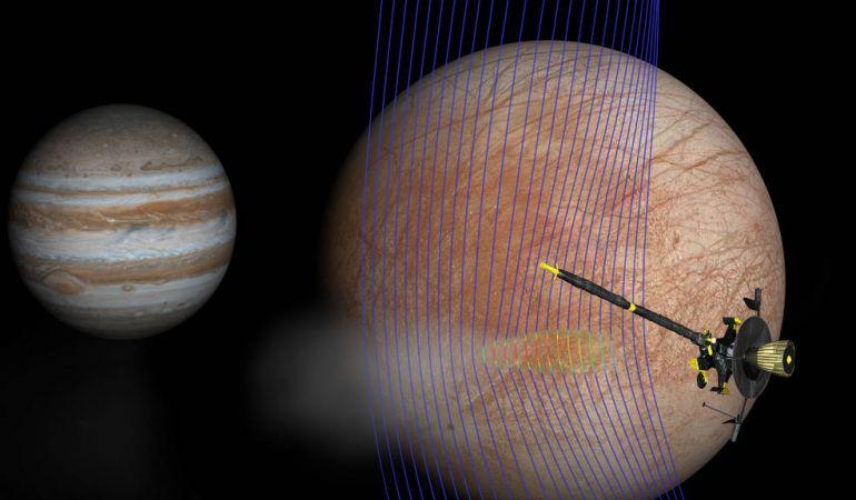 El equipo de investigación descubre los géiseres del satélite.