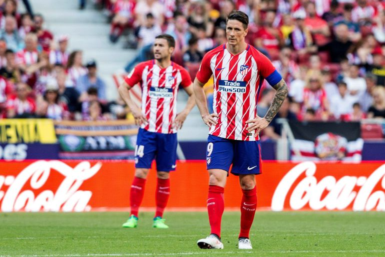Fernando Torres en un encuentro de esta temporada con el Atlético