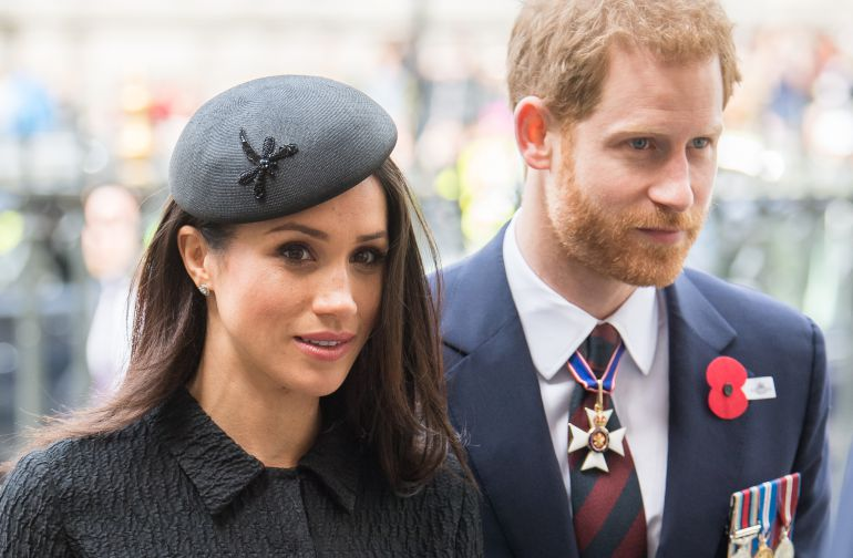Meghan Markle y el príncipe Enrique II.