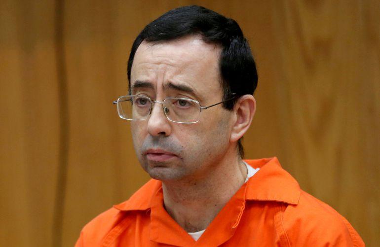 Larry Nassar durante su juicio en noviembre de 2017