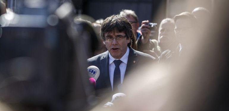 Carles Puigdemont tras abandonar la prisión en Alemania