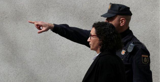 Marta Rovira el día de su declaración en el Tribunal Supremo