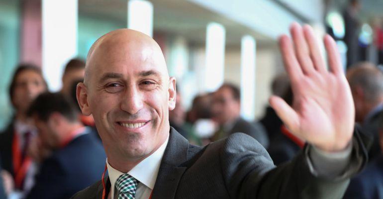 Luis Rubiales, a su llegada a la RFEF