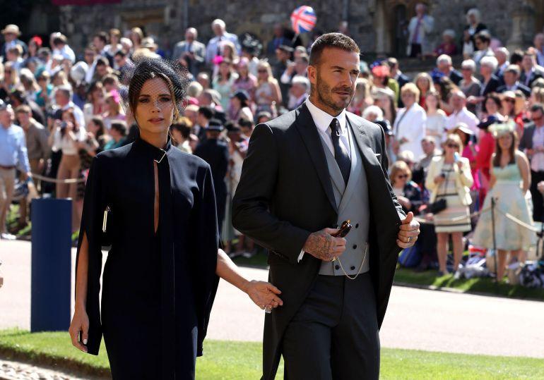 boda principe harry meghan markle: Las fotos de Beckham, 'trending topic' a los cinco minutos de llegar la boda real británica