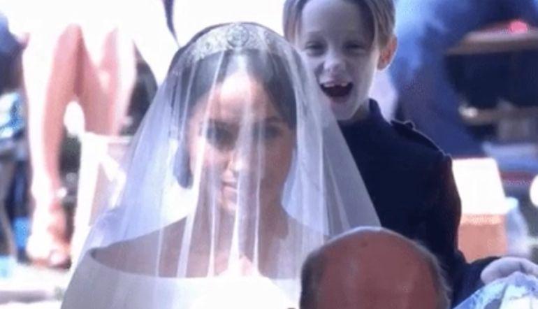 boda principe harry: El niño que robó el todo el protagonismo a Meghan Markle por unos instantes