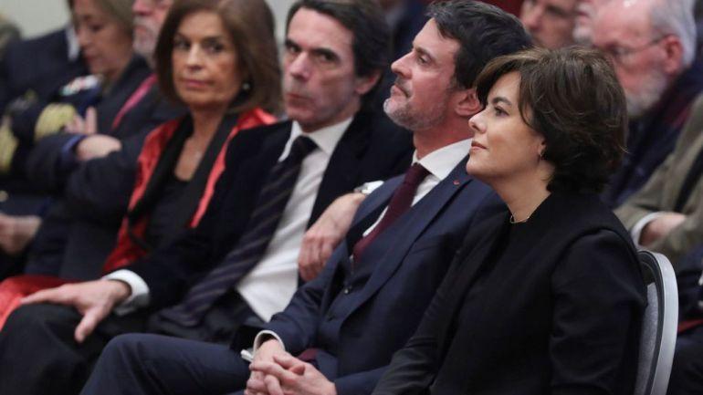 Imagen de archivo de Aznar y Valls en un acto el pasado mes de febrero