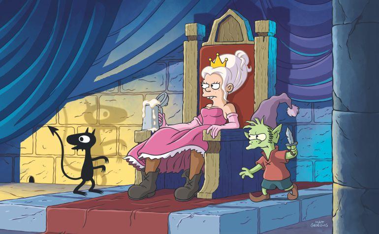 Netflix le pone fecha a Disenchantment, lo nuevo de Matt Groening