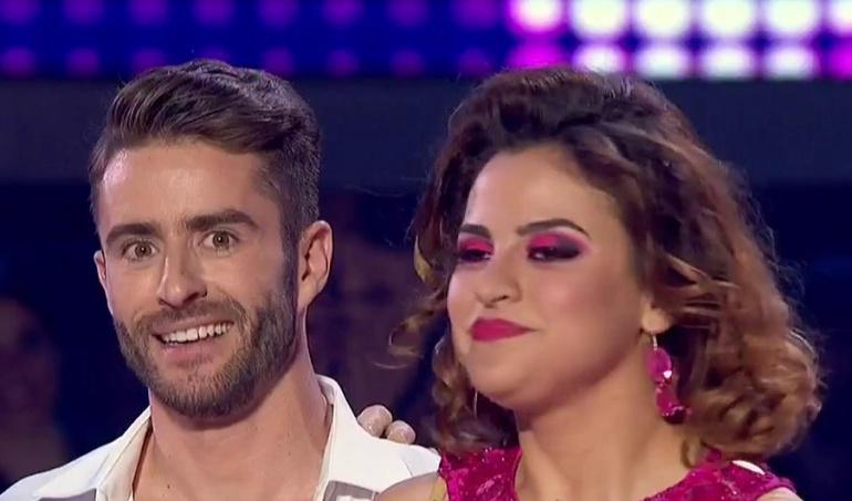 Pelayo Díaz e Inés en la segunda gala de 'Bailando con las estrellas'