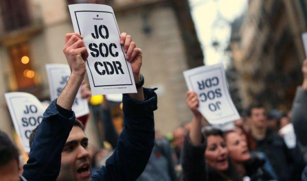 Manifestación a favor de los CDR