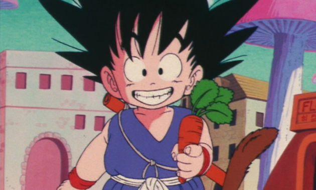 Goku con una zanahoria.
