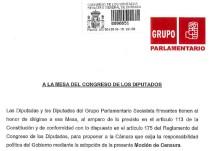 El PSOE registra la moción de censura contra Mariano Rajoy