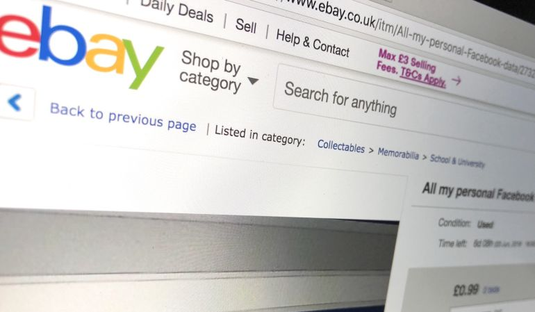 Oli Frost pone a la venta sus datos en eBay.