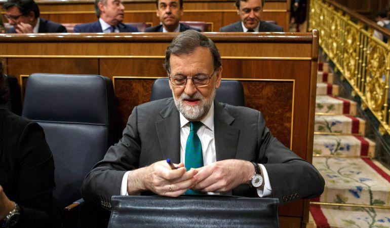 Mariano Rajoy en el Congreso de los Diputados.