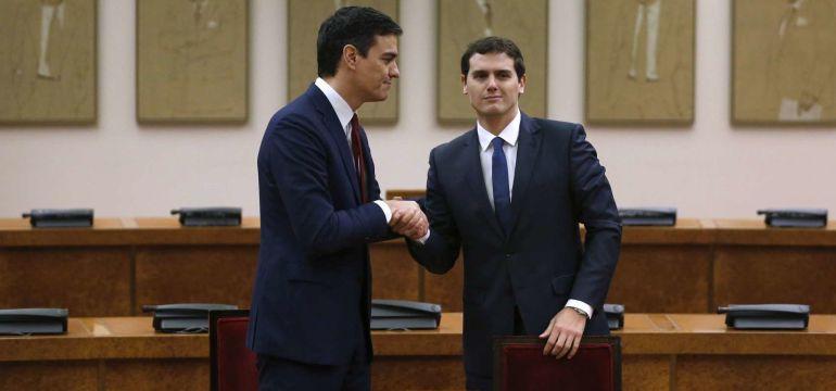 Albert Rivera y Pedro Sánchez en una imagen de archivo (2016)