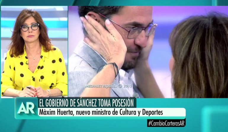 Ana Rosa habla de Màxim Huerta tras ser nombrado ministro de Cultura y Deporte