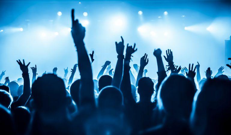 El público durante un concierto.
