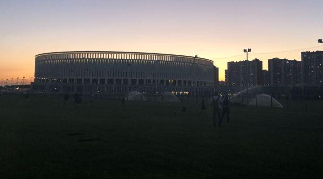 Imagen del estadio de Krasnodar en el que se disputará este sábado el España - Túnez
