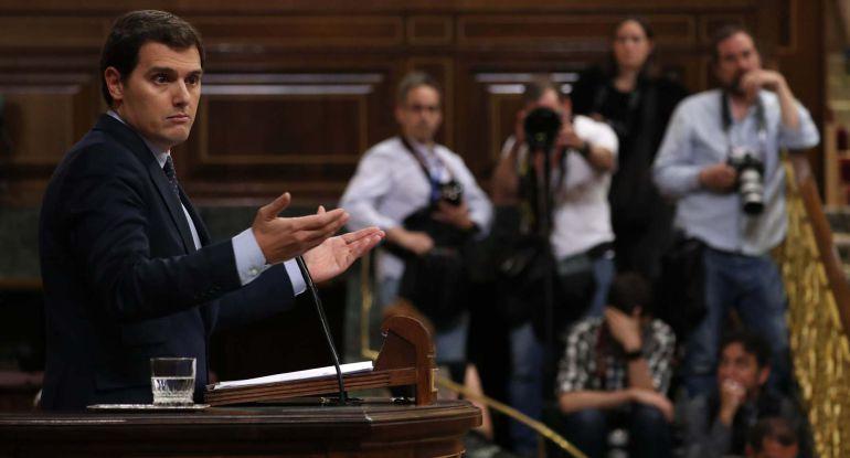 Albert Rivera, presidente de Ciudadanos en el Congreso de los Diputados