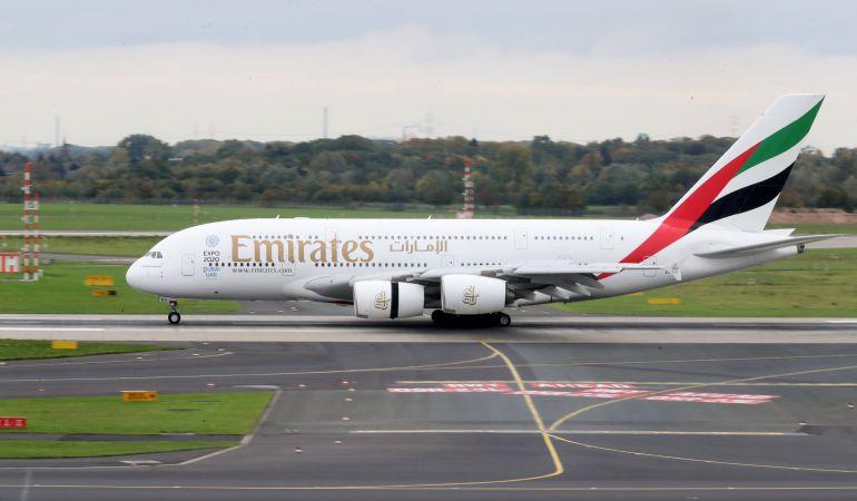 Un Airbus A380-800 de Emirates.