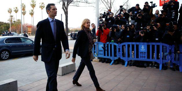 Urdangarin y la Infanta Cristina llegan a la Audiencia de Palma