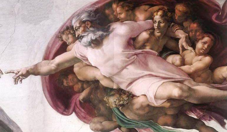 El Dios de Miguel Ángel es uno de los más característicos.