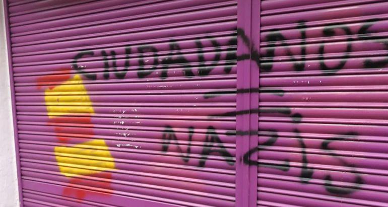 Imagen de la fachada de la tienda propiedad de la madre de Albert Rivera en Barcelona