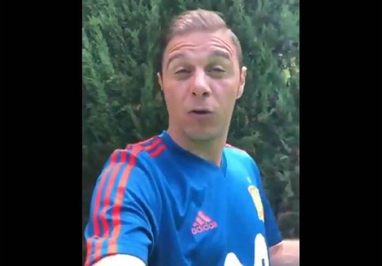 Joaquín, en el vídeo en el que lanza un mensaje de ánimo a los aficionados de la selección española.