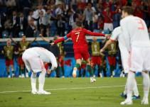 Cristiano Ronaldo evita la remontada triunfal de España