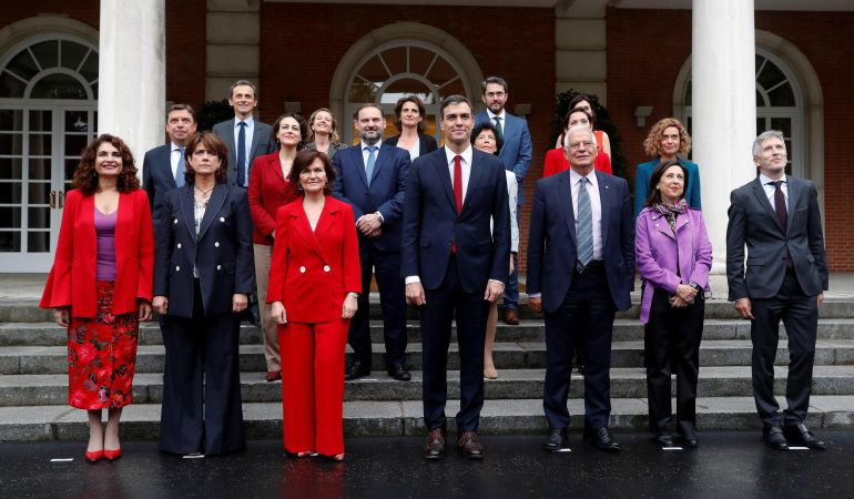 El equipo de Gobierno de Pedro Sánchez, todavía con Màxim Huerta presente.