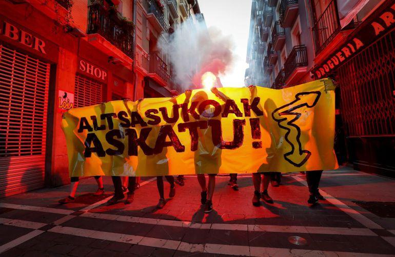 Manifestación a favor de los detenidos en Alsasua.