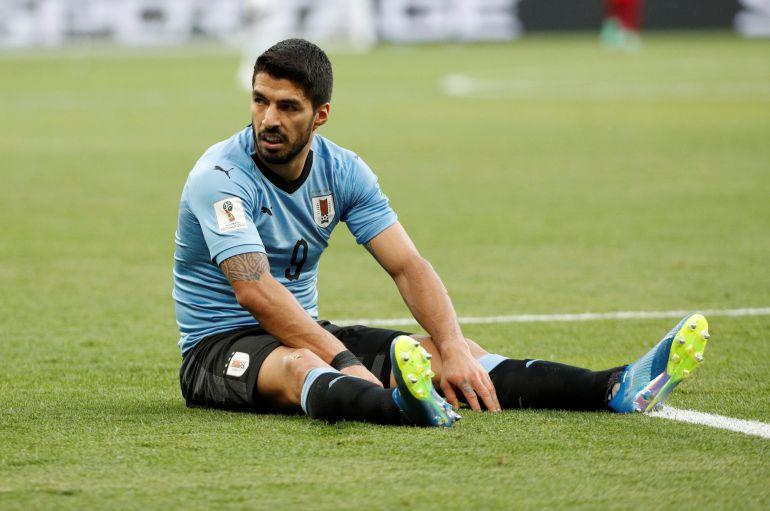 Luis Suárez durante el partido contra Arabia Saudí.
