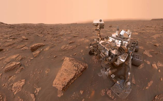 Una tormenta de polvo se extiende por gran parte de Marte