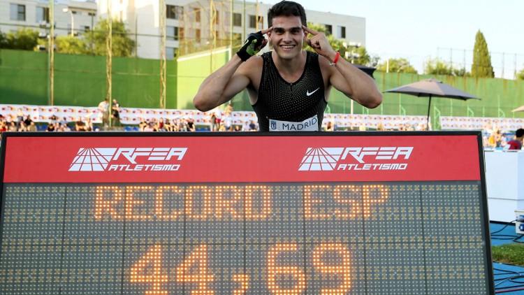Bruno Hortelano bate un nuevo récord en 400 después de 29 años