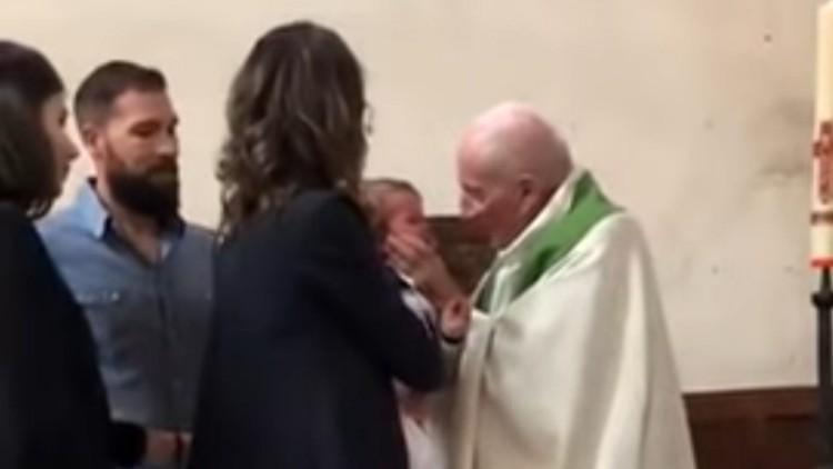 La sanción al cura que abofeteó a un niño en su bautizo