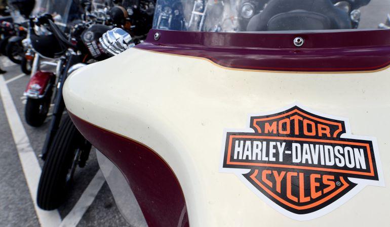 "Motos Harley-Davidson en los ""Hamburg Harley-Days""."
