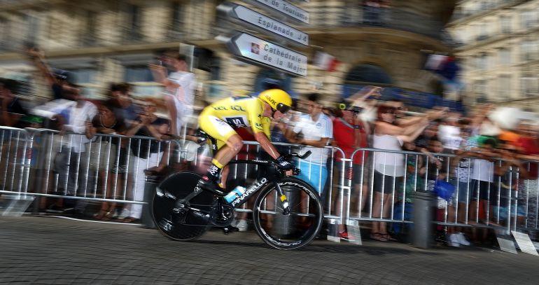 Chris Froome, en una contrarreloj del Tour.