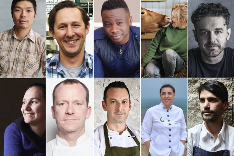 Los 10 nominados al Basque Culinary World Prize 2018.