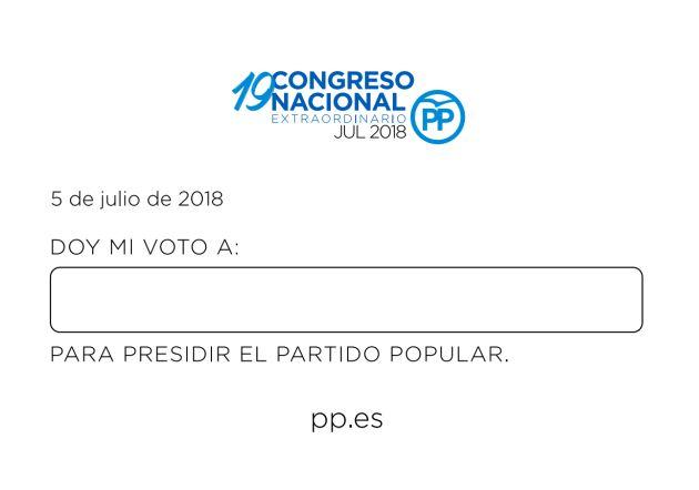 La papeleta de votación