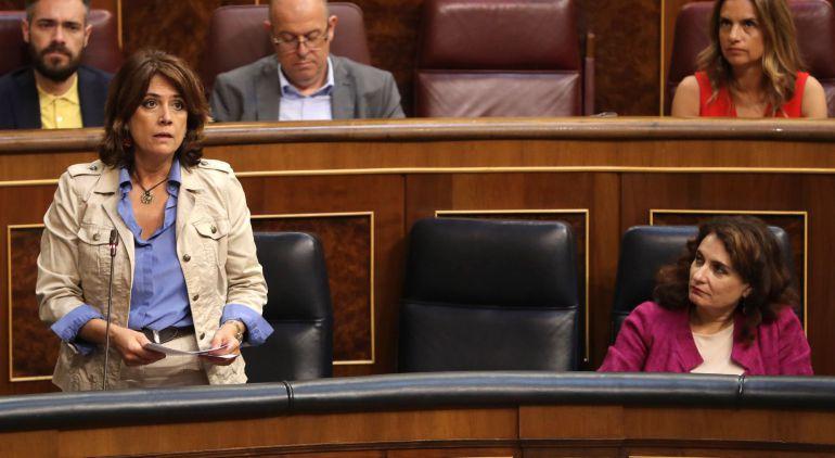 Dolores Delgado en el pleno dle COngreso del 27 de junio