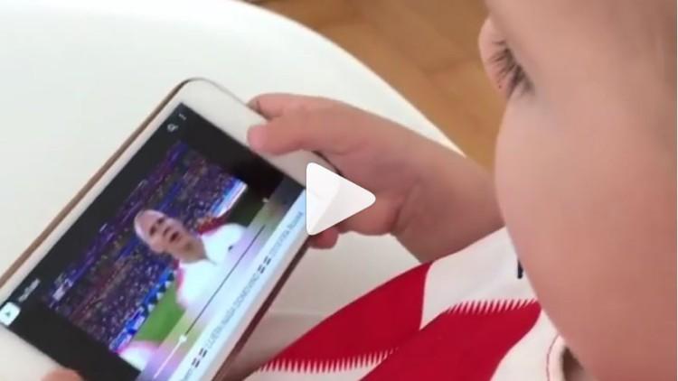 El vídeo del bebé del croata Lovren que hará que se te caiga la baba
