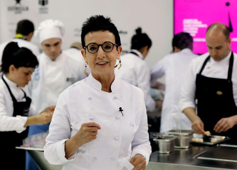 Fotografía de archivo de la chef Carme Ruscalleda, durante su participación en uno de los talleres de alta cocina organizada en el marco del Salón Alimentaria.