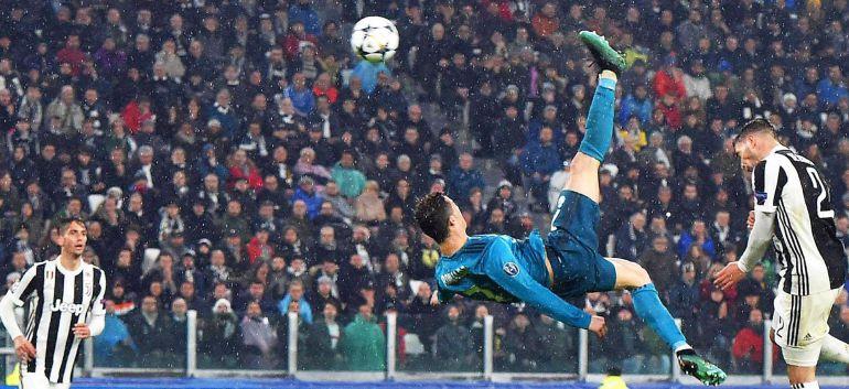 El gol de chilena de Cristiano a la Juventus en la Liga de Campeones.
