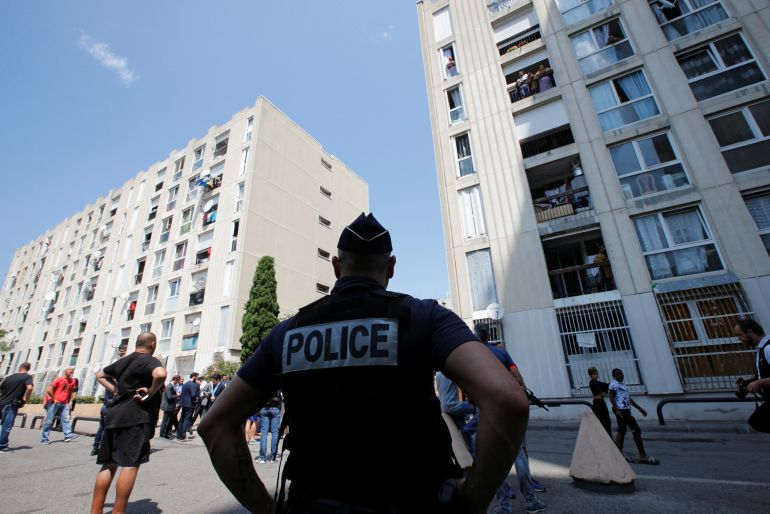 Fotografía de archivo de la policía francesa