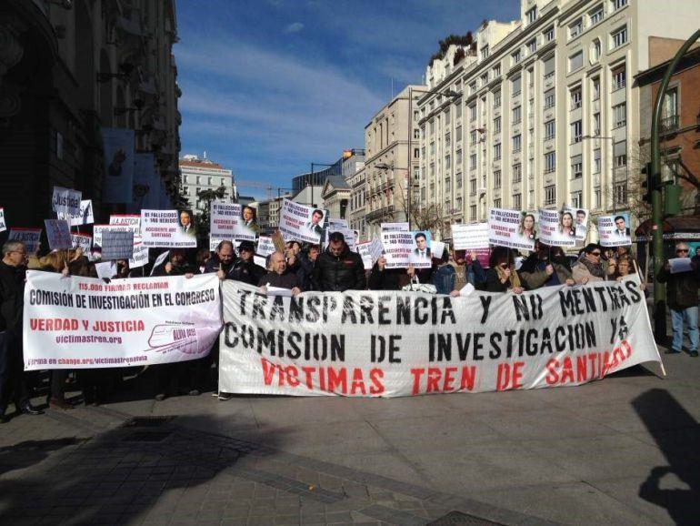 Protesta de las víctimas de Angrois (archivo)