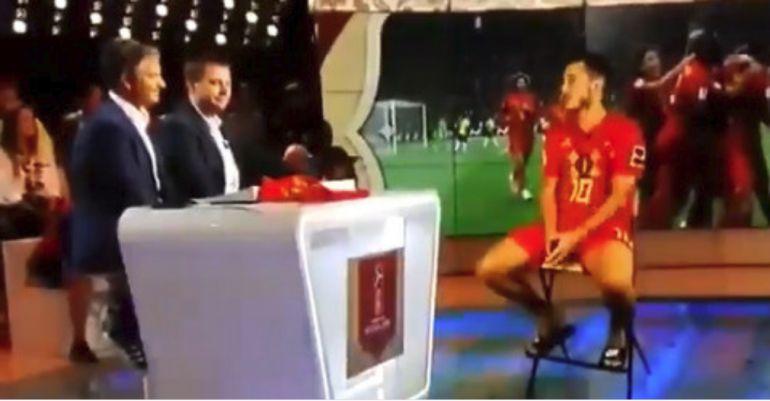 Hazard, durante la entrevista