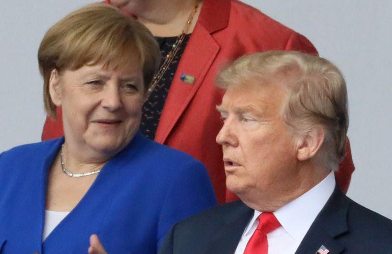 Angela Merkel y Donald Trump en la cumbre de la OTAN celebrada en Bruselas