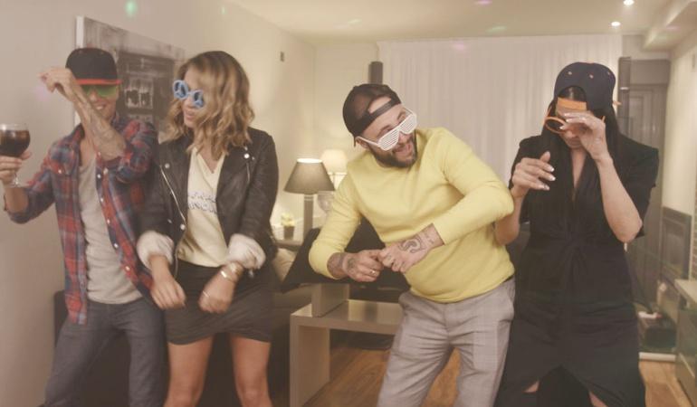 Julio Iglesias Jr., Elena Tablada, Kiko Rivera y Toñi Salazar en 'Ven a cenar conmigo'