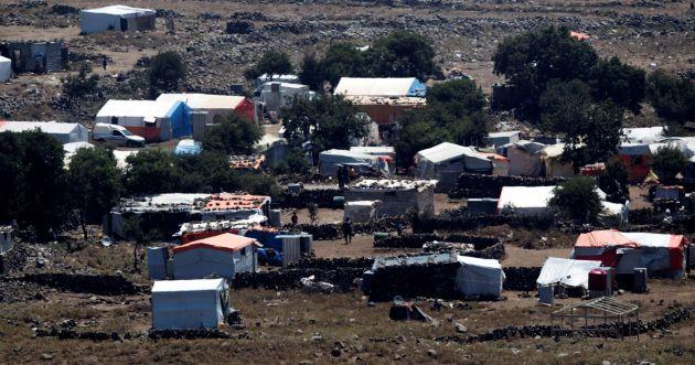 Campamento de refugiados sirios próximo a la localidad de Al Rafeed