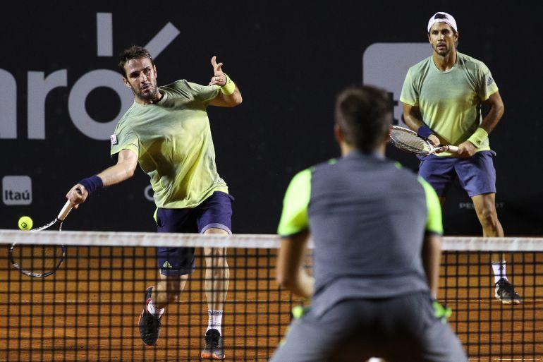 Marrero y Verdasco, durante un partido de dobles