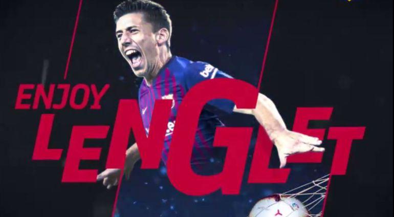 El francés Lenglet, nuevo jugador del Barcelona.